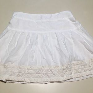 American Eagle Skirt White Embroidered Boho mini
